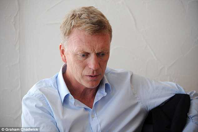 Opening up: Moyes accepts that following Sir Alex Ferguson at United was near enough impossible