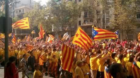 'Via catalana 2014.' Diagonal - Aragó Photograph: Cafè de les Delícies/GuardianWitness